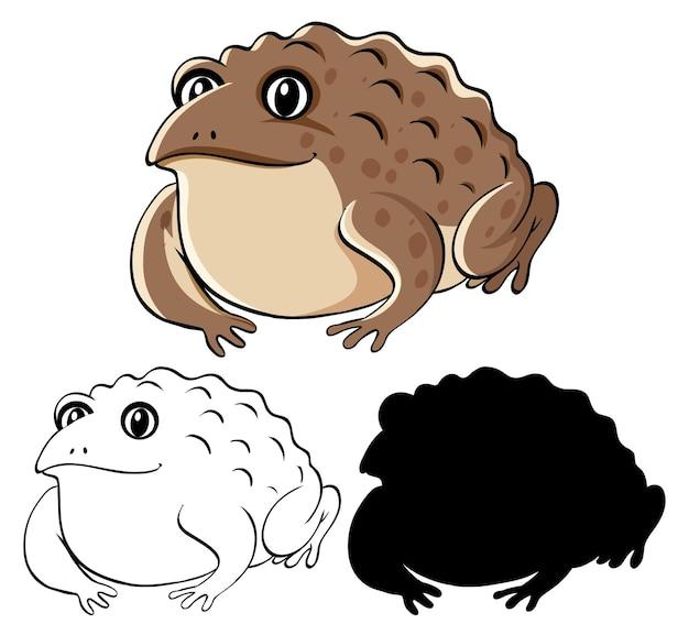 Набор жаба мультфильм