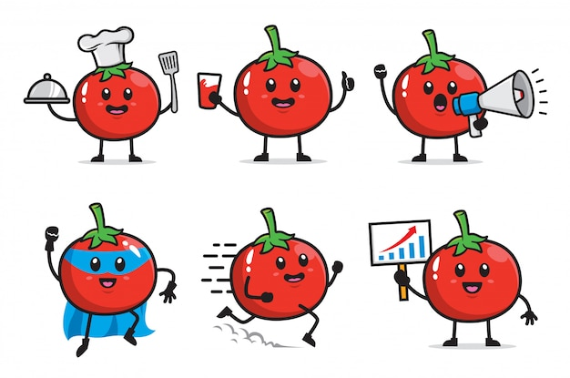 Набор томатного персонажа