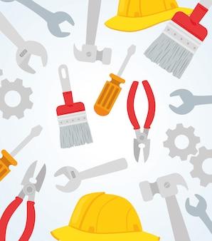Набор инструментов строительного оборудования
