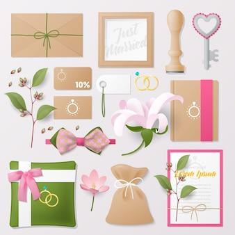 Набор инструментов для свадебного салона