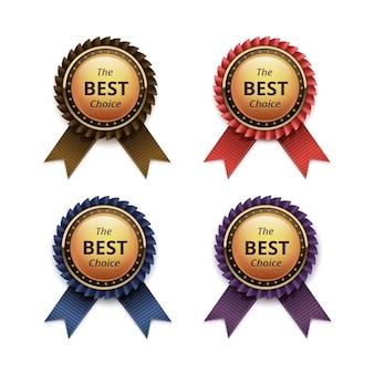 リボン付き最高品質のゴールデンラベルのセット