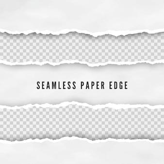 Набор рваных бесшовных бумажных границ