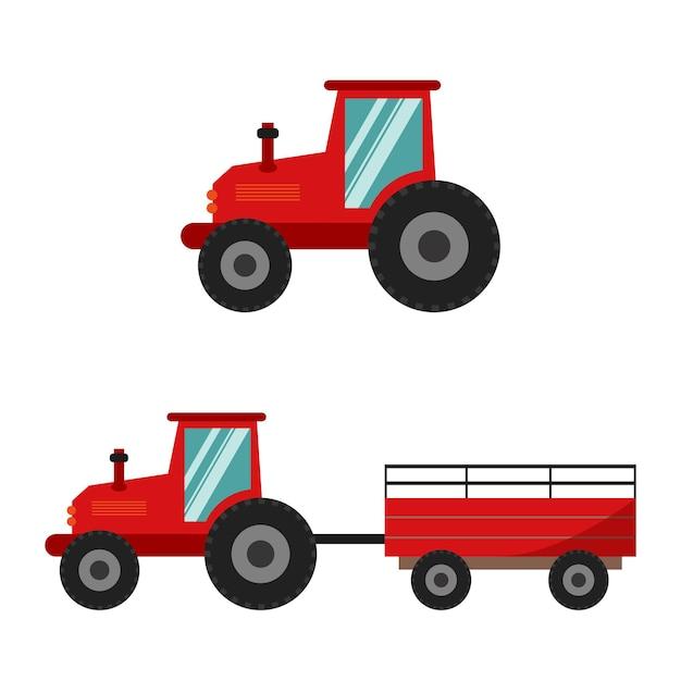 トレーラー付きトラクタートラクターのセット