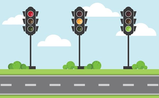 交通信号のセット