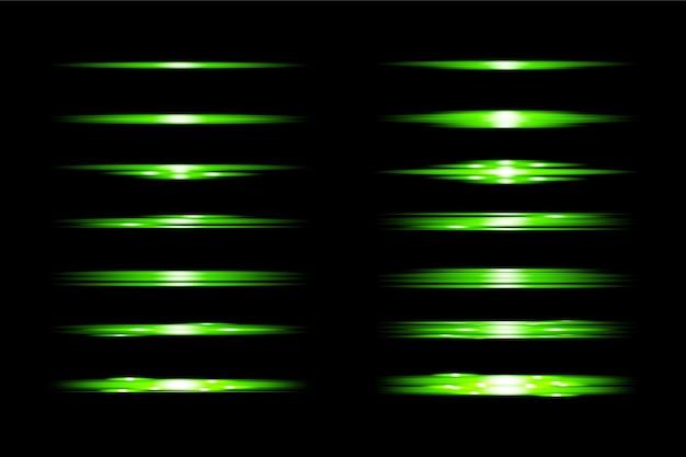 Набор прозрачных световых бликов premium transparent eps