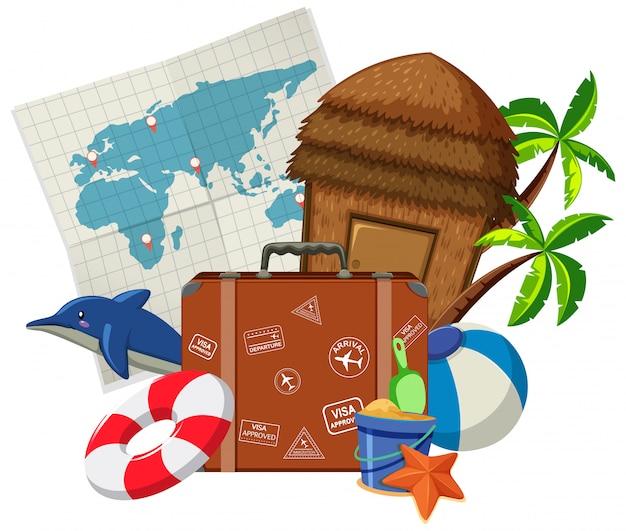 Набор элементов путешествия