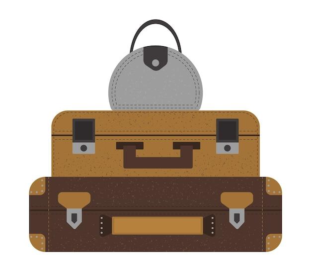 Набор чемоданов путешественников