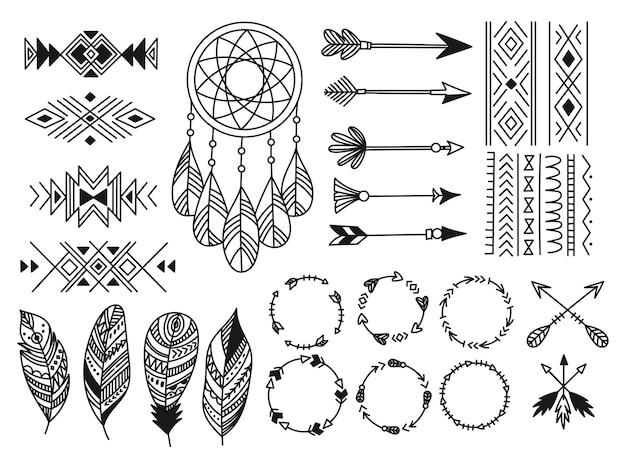 Набор элемента дизайна племенных Premium векторы