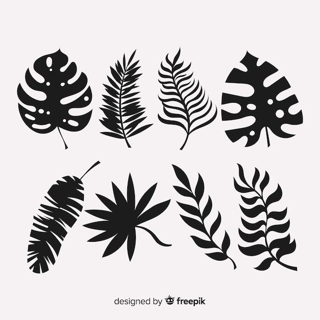 Free Set Of Tropical Leaves With Silhouette Style Svg Dxf Eps Png Free Download Cut Files Svg Png Dxf Free download and use them in are you looking for the best tropical leaves clipart for your personal blogs, projects or designs, then. silhouette style svg dxf eps png