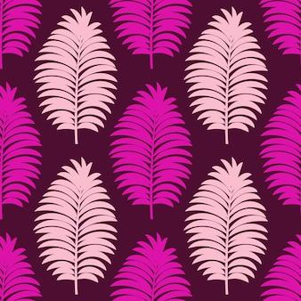 Набор тропических узоров с минимальными пальмовыми листьями