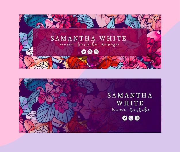 2つのfbカバー、濃い紫色、アルコールインクの質感の花のセット