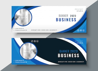 Set of two professional corporate business banners design