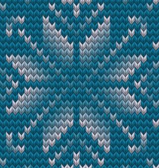 2つの冬のセーターパターンのセット。クリスマスのシームレスな編み物の背景。そしてまた含まれています
