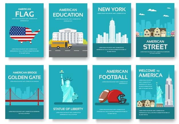 アメリカの国飾り旅行ツアーのセット