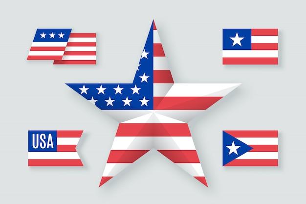 アメリカのシンボルと要素のセット
