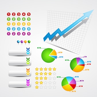 有用なビジネスおよびweb要素のセット