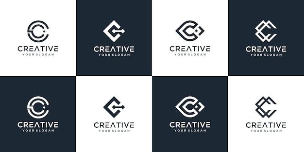 Набор различных шаблонов логотипа c