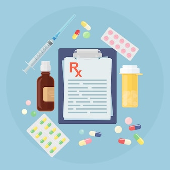 さまざまな薬のセット