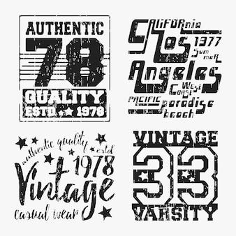 Набор различных футболок штамп