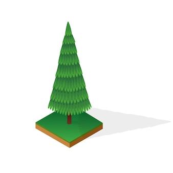 白い背景で隔離の様々なタイプの木材のセットです。等尺性の風景の公共の公園または庭のための緑の植物。ランドスケープコンストラクター要素。インフォグラフィックやゲームのベクトルアイコン