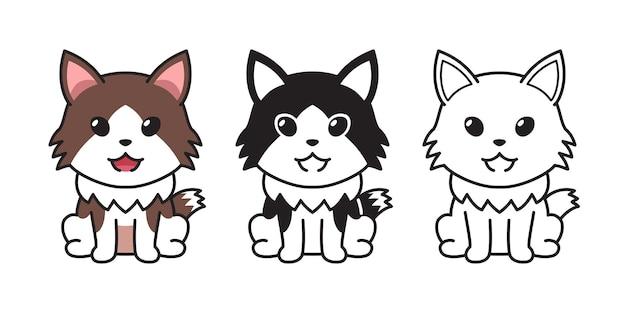 デザインのベクトル文字漫画ラガマフィン猫のセットです。