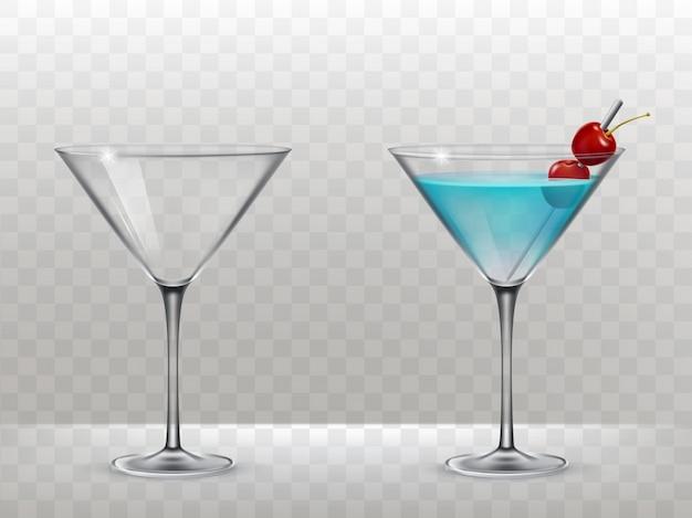 アルコール用のベクトル眼鏡のセット