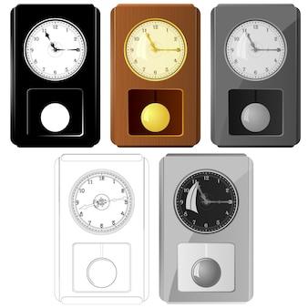 Набор векторных изображений маятниковых часов