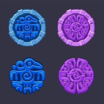 Набор векторных изолированных знаков символ культуры майя ацтеков