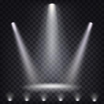 Набор векторных сценических прожекторов