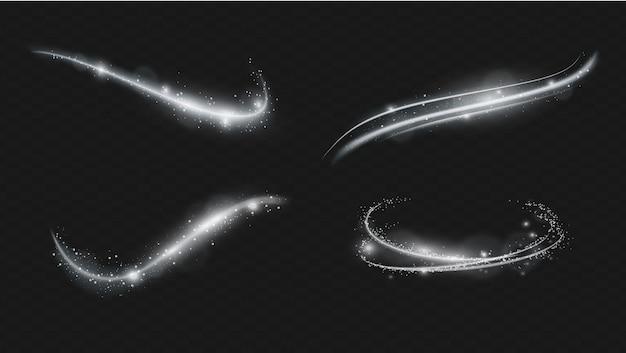 ベクトル透明フラッシュライト効果、日光特殊レンズのセット