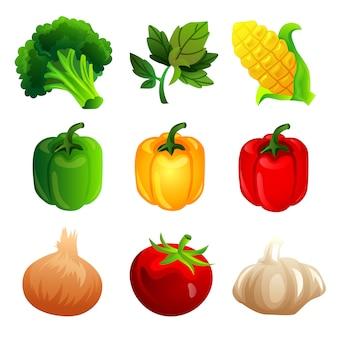 Набор объекта овощной элемент