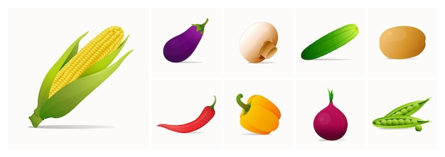野菜イラストのセット