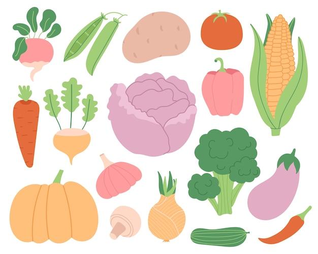 Набор овощей.