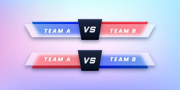 競争のための対画面デザインのセット