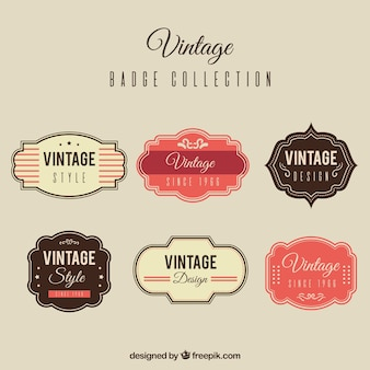 Set of vintage badges