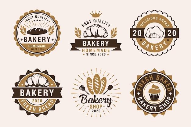 Набор старинных этикеток пекарни, значков и элементов дизайна