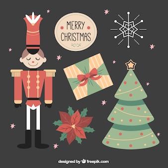 Набор старинных рождественских декоративных предметов