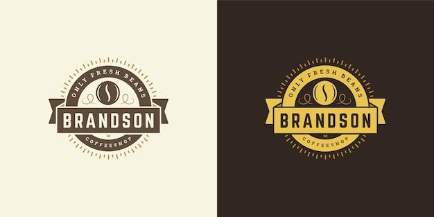 Набор старинных логотипов кафе