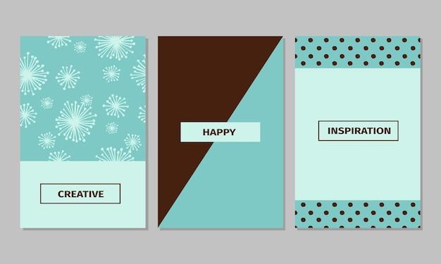 ヴィンテージクリエイティブカード、テープ、ステッカー、手描きの水玉模様のテクスチャのラベルのセット