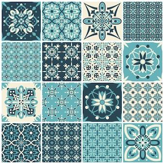 テキスタイルデザインのヴィンテージパターンのセット