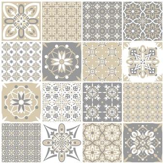 Набор старинных узоров для текстильного дизайна