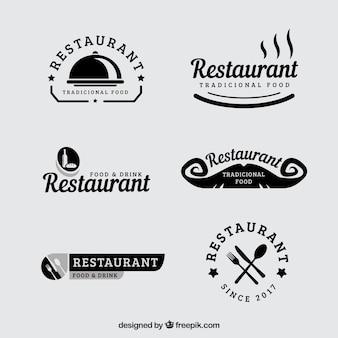 ヴィンテージレストランのロゴのセット