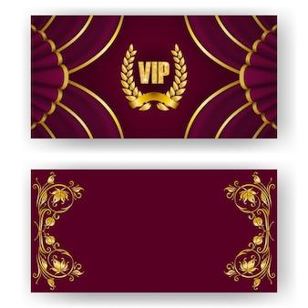 Vipカード、月桂樹のリースの招待状のセット