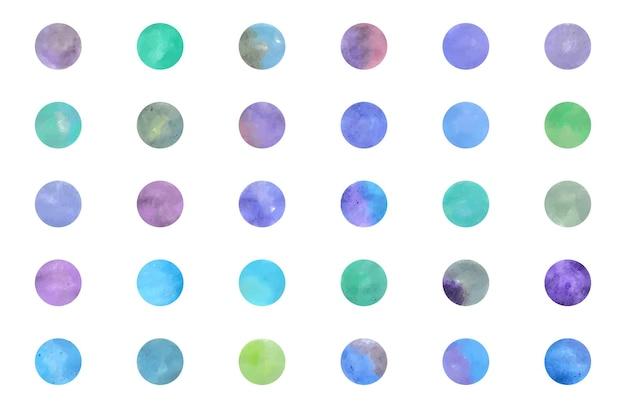 Instagramのハイライトカバーやその他のwaercolor円形の背景のセット
