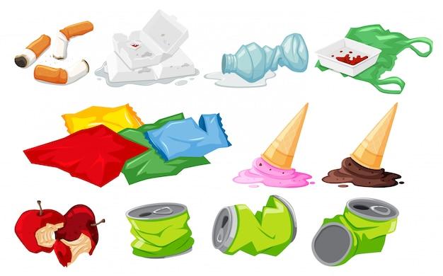 Набор элементов отходов