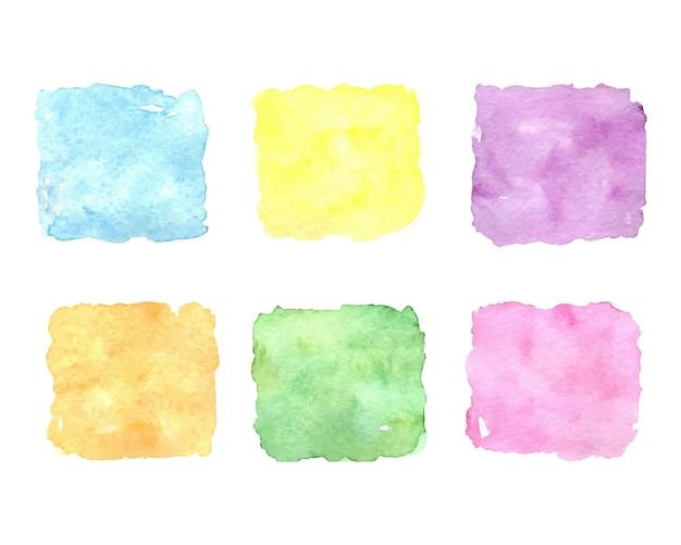 水彩のカラフルなスポットのセット