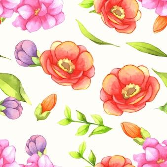 個々の要素を持つ水彩画の花の花束のセットです。
