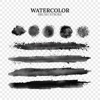 水彩ベクトルブラシストロークのセットです。