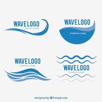 波のロゴのセット