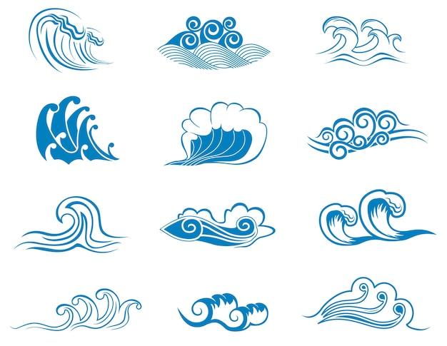 Набор символов волны